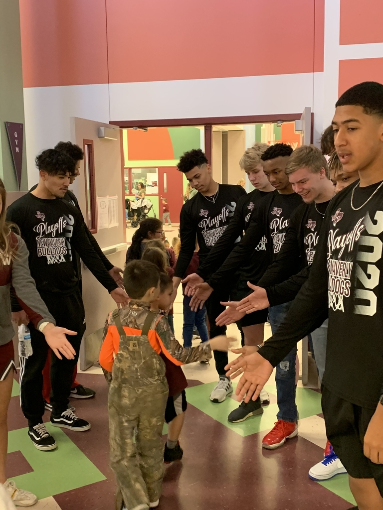 Boys basketball team greeting our students!